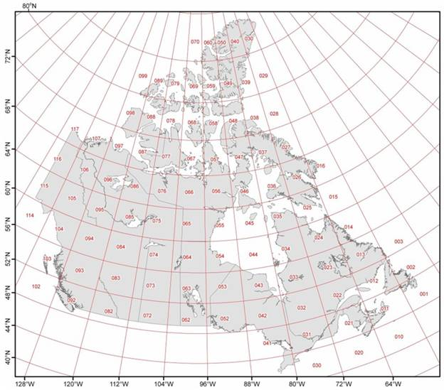 Map Of Canada With Latitude And Longitude.Gis Theory